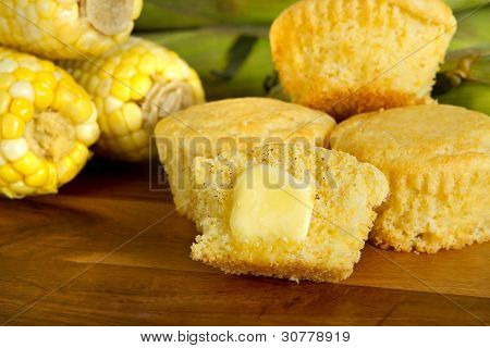 Corn Muffin With Butter