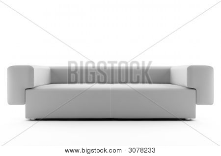 White Sofa Isolated