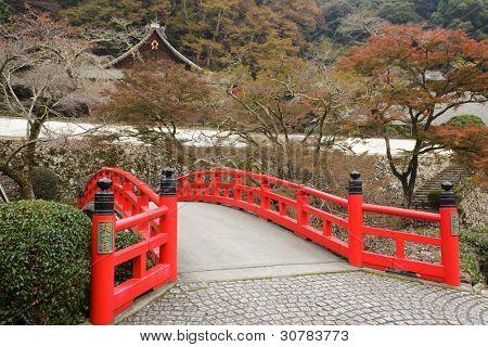 autumn scenery at Ryuanji temple in Mino park, Osaka, Japan