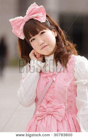 portrait of japanese sweet lolita cosplay