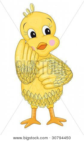 illustration of a duckling on a whote background
