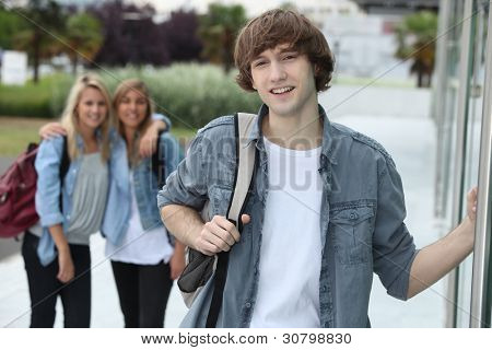 Teenagers going to college