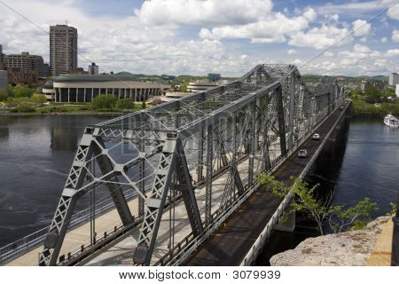 Alexandra Bridge Between Ottawa And Gatineau In Canada