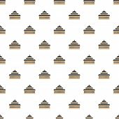 Tall Church Pattern Seamless Vector Repeat For Any Web Design poster