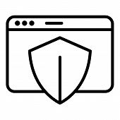 Safe Web Page Icon. Outline Safe Web Page Vector Icon For Web Design Isolated On White Background poster