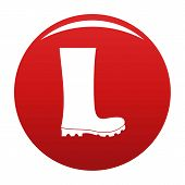 Rubber Boots Icon. Simple Illustration Of Rubber Boots Vector Icon Isolated On White Background poster