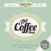 Retro Vintage Coffee Background