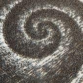 spiral crowd pattern