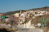 pic of hamlet  - Scenic mountain hamlet of Benimassot Costa Blanca Spain - JPG