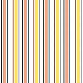Stripe Seamless Pattern With Orange, Black And White Vertical Parallel Stripes. Vector Pattern Strip poster