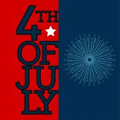 Happy Independence Day Graphic Design. 4th Of July - Vector poster