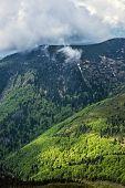 Natural Scene Of Little Fatra, Slovak Republic. Hiking Theme. Seasonal Natural Scene. poster