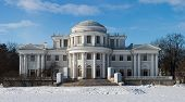 stock photo of sankt-peterburg  - Yelagin palace in winter day Sankt - JPG