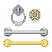 Door Handle Vector Doorknob To Lock Doors At Home And Metal Door-handle In House Interior Illustrati poster