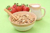 Healthy Breakfast - Musli And Strawberries poster