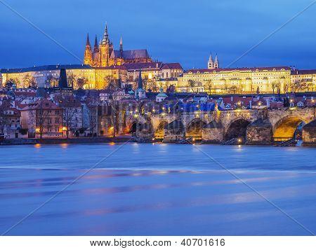 Spotlit Prague