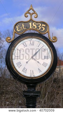 Old-time Clock in Park