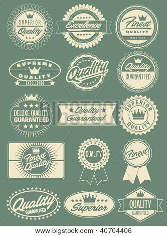 Retro Vintage Style Labels, Seals and Crests in Vector/Illustration