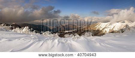 Mountain Panorama In Mountain Small Fatra