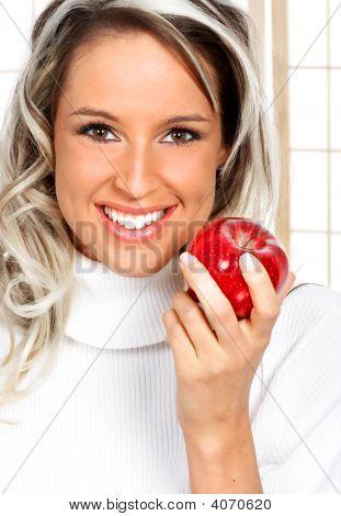 Mulher com maçã