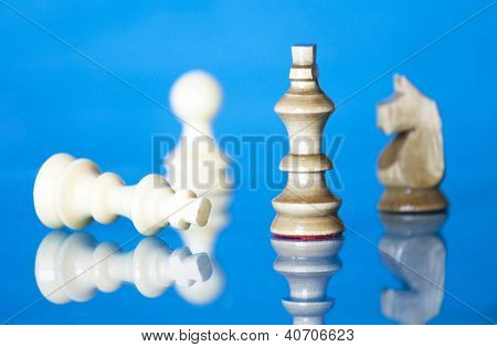 Checkmate - black defeats white