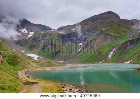 Alpine Landscape With Beautiful Lake