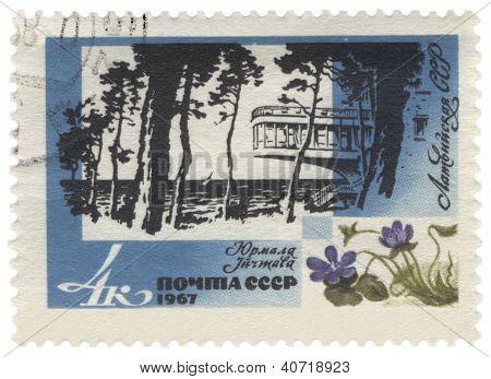 Jurmala Resort In Latvia On Post Stamp