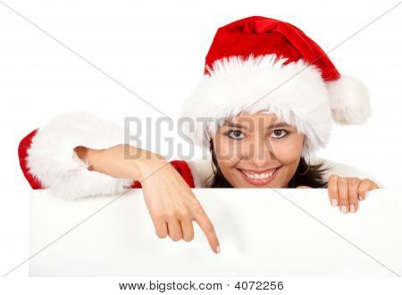 Christmas Girl Pointing