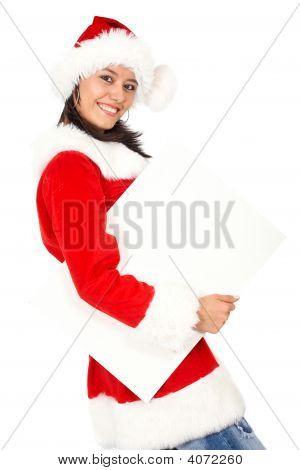 Christmas Girl Holding Add