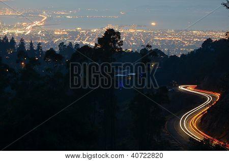 Light Trails Over San Francisco Bay