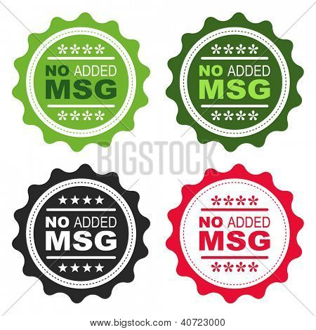 No added Monosodium Glutamate (MSG) food labels.