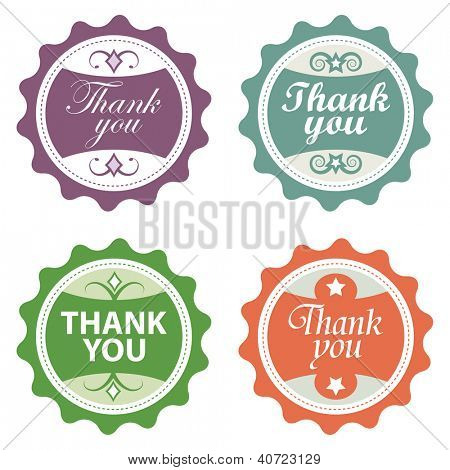 Four Thank-you labels.