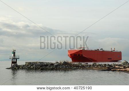 Navegación de carguero río Fraser