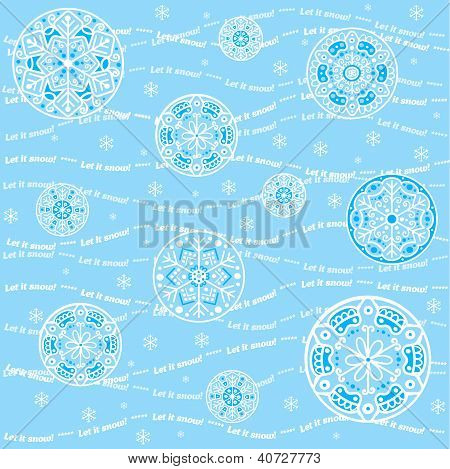 Seamless snowflakes background - Let it snow
