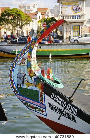 Typical boats in Aveiro