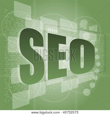 Seo Word On Touch Screen Interface