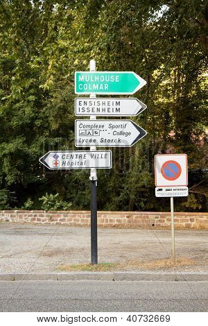 Signpost In France