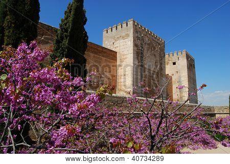 Castle in Springtime, Granada, Spain.