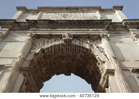 Arch Of Titus Detail, Rome