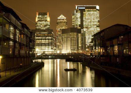 Canary Wharf At Night