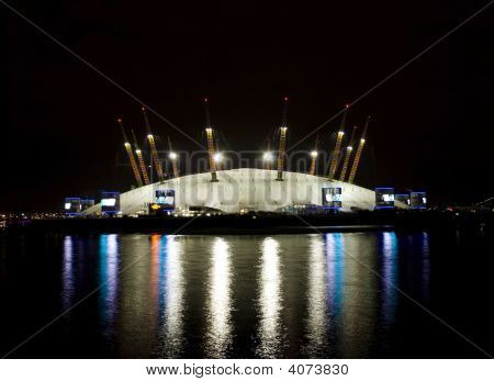 O2 Millennium Dome At Night