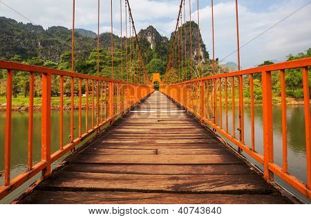Bridge in Vang Vieng,Laos