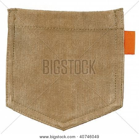 Brown pocket isolated on white