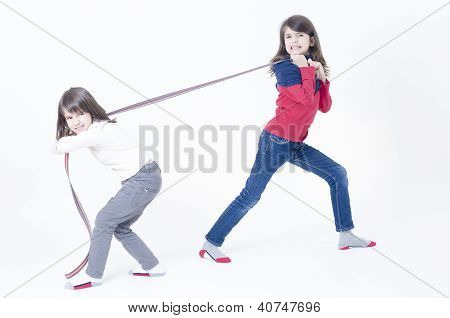 Two Girls Playing