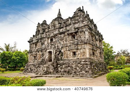 Candi Sari  (also known as Candi Bendah) buddhist temple in Prambanan valley on  Java. Indonesia. Built around 778 a.d. it supposedly is the oldest temple among those built in the Prambanan valley.