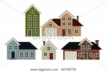 5 Houses Set