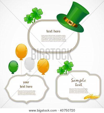 St. Patrick day frames