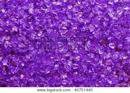 violet glass granules background