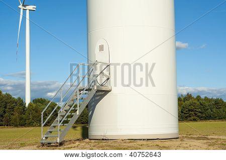 Windturbine On Sunny Day
