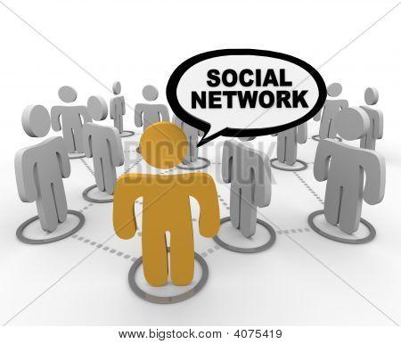 Sociaal netwerk - tekstballon